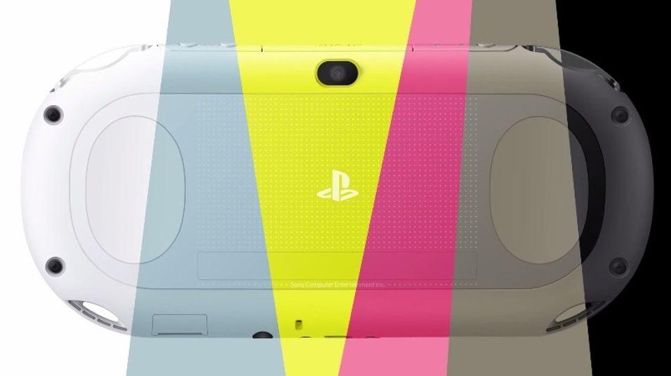 PS Vita Slim kommer i flere farger.