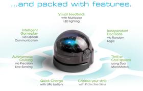 Ozobot har klart å bygge inn mye i den lille roboten. (Trykk for stort bilde).