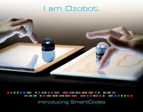 Ozobot følger linjer, og reagerer på farger i linjene.