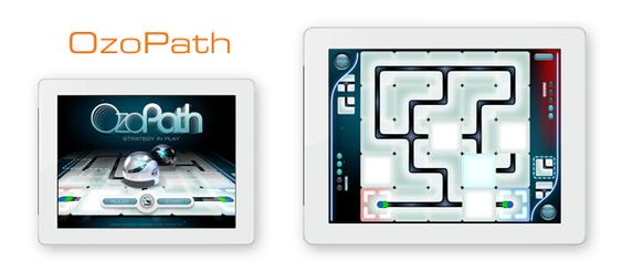 En av appene som følger med er en labyrint, der du skal hjelpe Ozobot med å finne veien ut.