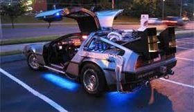 Den modifiserte utgaven av DeLorean DMC-12 som ble brukt i filmen.