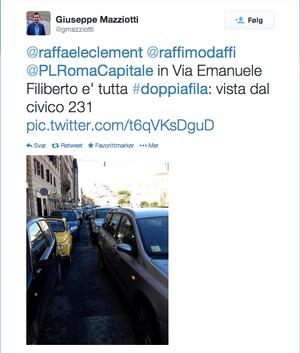 Et eksempel på et innlegg på politiets Twitter-konto.