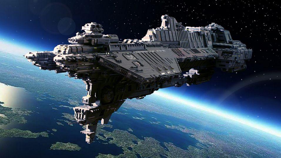 Dette gigantiske romskipet er bygget med LEGO