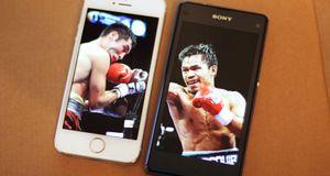 iPhone 5S mot Xperia Z1 Compact