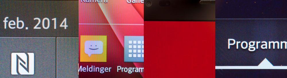 Vi ergres litt over at skjermen ikke viser jevne farger, og at det tidvis tar lang tid før forrige skjermbilde viskes helt ut. Det er ikke alle som legger merke til det umiddelbart, men det er irriterende når man først ser det. (Trykk for full størrelse.).