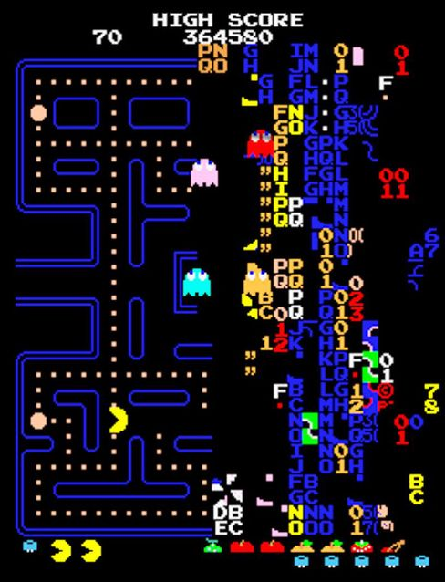 Slik ser Pac-Mans kill screen ut.