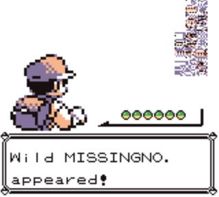 I Pokémon kan man fange glitch-Pokémonen Missingno. Dette er en av de mest kjente glitchene i spillhistorien.