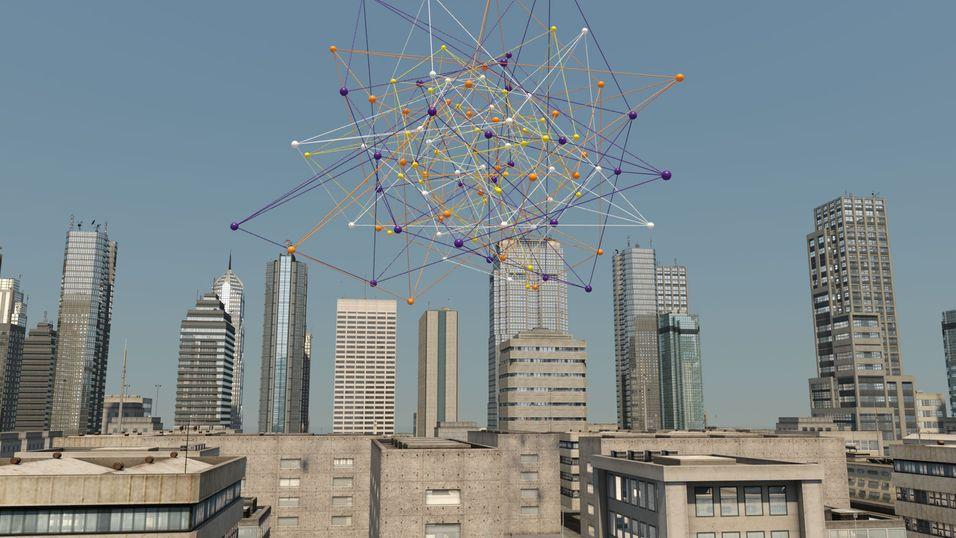 Slik liker Nokia Solutions and Networks (NSN) å illustrere tjenesten som forutsier mobilnettenes tilstand. En rekke data fra ulike kilder samles og tygges.