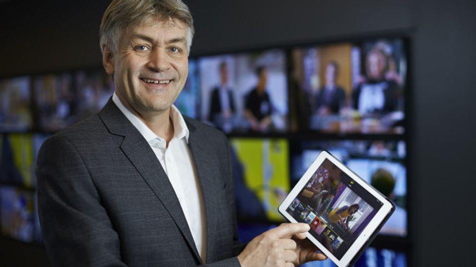 TDC Get-sjef i Norge, Gunnar Evensen, er endelig klar med mobiltjenester for det norske markedet. Kunder som kjøper bredbånd, TV og mobil får doblet mobildatapakken.