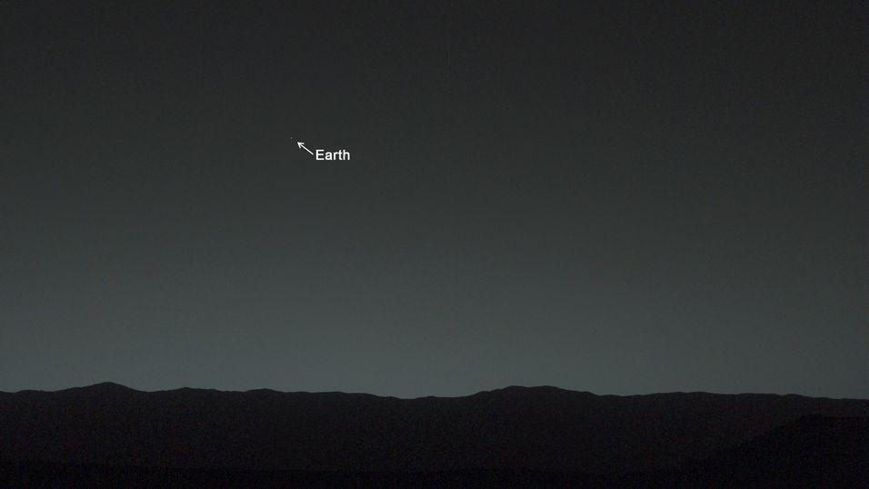 Fra Mars er Jorden til forveksling lik en stjerne.