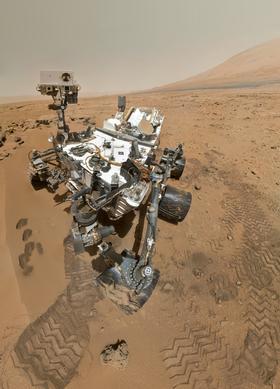 Dette er «fotografen», Mars-fartøyet Curiosity.