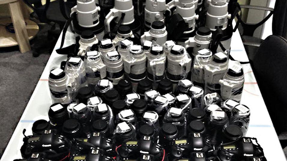 Sjekk utstyret i million-klassen fotografene tar med til OL