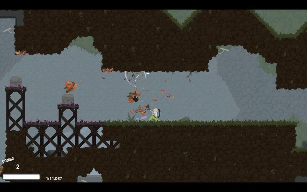 Jada, du kan helt fritt dundre løs på et flyvende ekorn med en løvblåser.