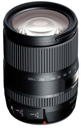 Tamron 16-300, kun for APS-C bildebrikker.