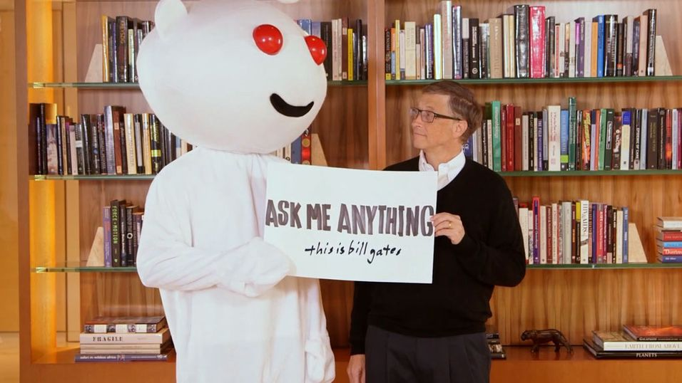 Bill Gates svarte på alt hos Reddit