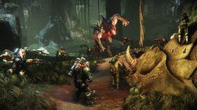 Evolve set eit jaktlag opp mot eit mektig monster som blir stadig sterkare.
