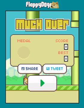 Flappy Doge er imidlertid ikke noe enklere enn originalen. Much over!