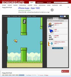 Nettstedet Kongregate har kanskje den beste nettklonen av Flappy Bird vi har prøvd.