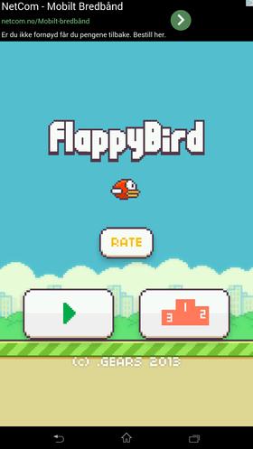 Hvis du vil laste ned Flappy Bird for Android-telefoner kan du enten spørre en venn, eller se om du finner installasjonsfilen. Begge deler er i grenseland, selv om appen både er gratis og annonsefinansiert.