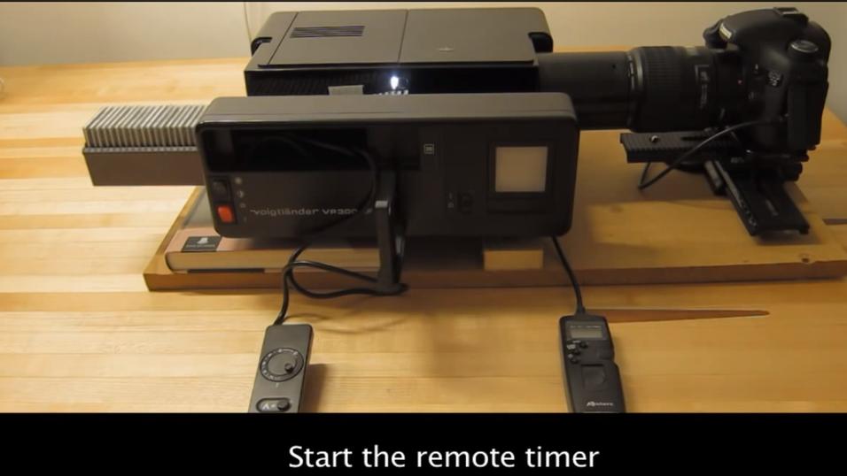 Se hvor raskt han digitaliserer lysbilder