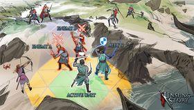 Konspetbilete som illustrerer kampsystemet i Unsung Story. (Foto: Playdek).