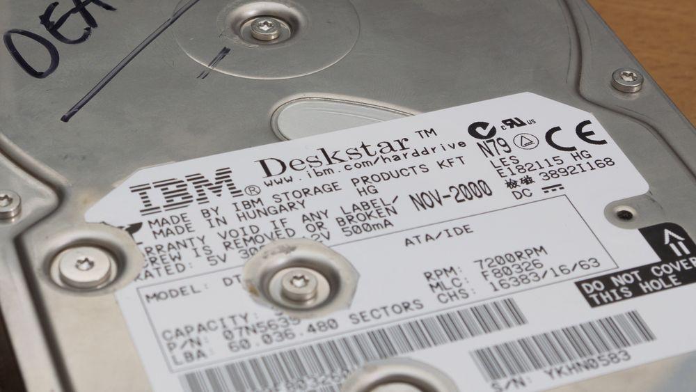 IBM Deskstar 75GXP var en av sin tids raskeste harddisker.