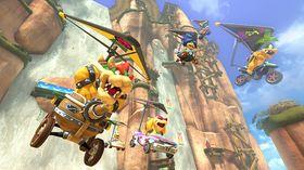 Det blir mye glideflyvning i Mario Kart 8.
