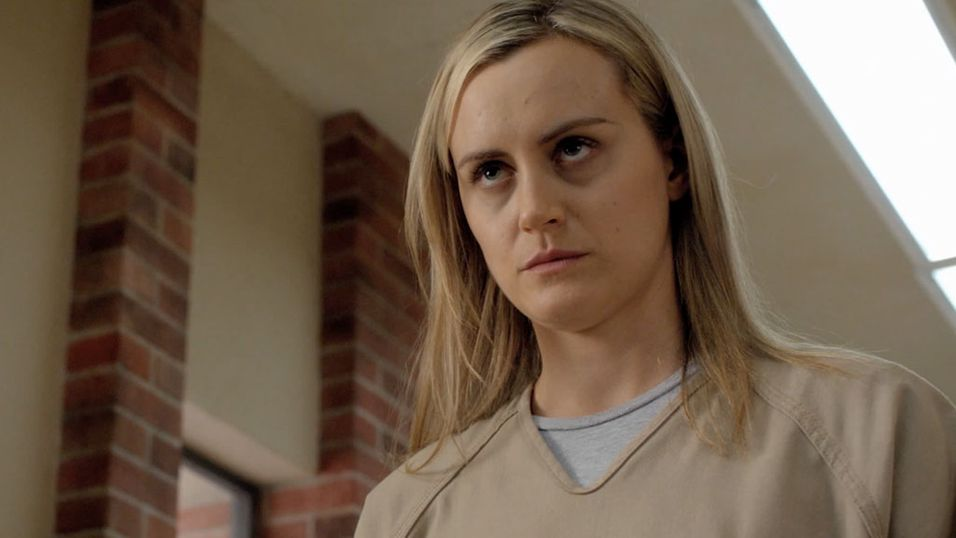 Taylor Schilling spiller Piper Chapman i Netflix-serien «Orange is the New Black».