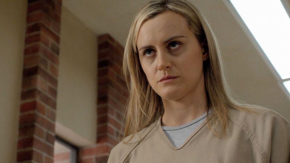 Taylor Schilling spiller Piper Chapman i Netflix-serien «Orange is the New Black».