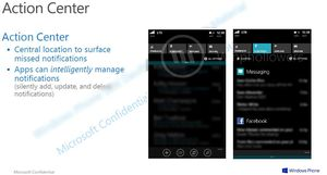 Dette skal være et lekket dokument som viser det nye varslingsenteret i Windows Phone 8.1.