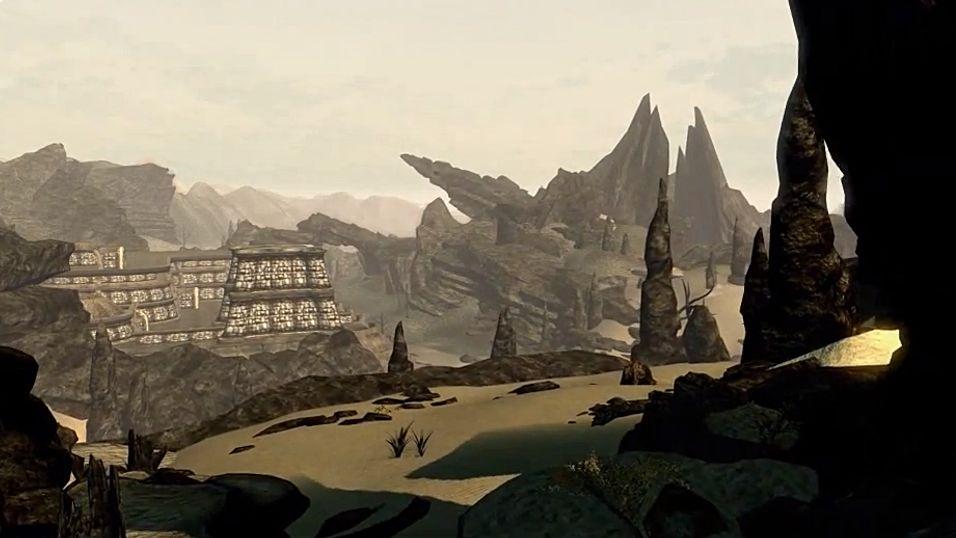 Se Morrowinds tørre askelandskap gjenskapt i Skyrim