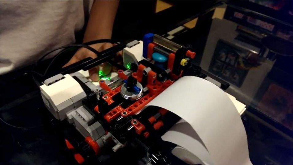 12-åring lagde blindeskriftprinter av Lego