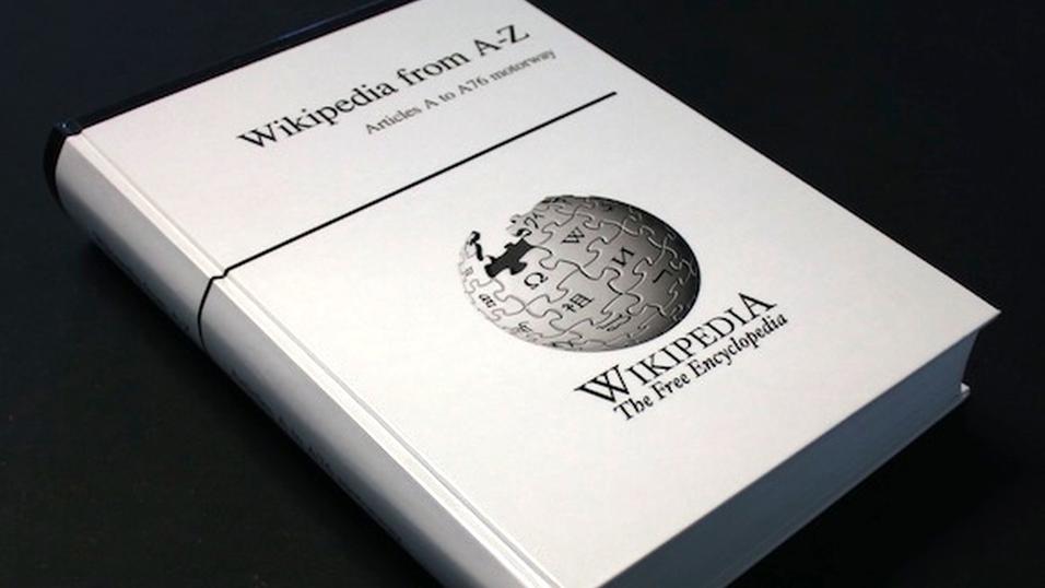 Hva sier du til hele det engelske Wikipedia i bokform?