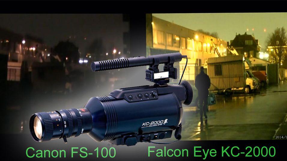 Nytt videokamera filmer i farger om natten
