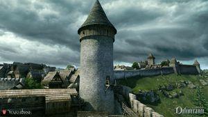 Spillets har to middelalderborger fra virkeligheten (bilde: Warhorse Studios).