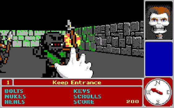 Catacomb 3-D kom før Wolfenstein 3D (bilde: GOG).