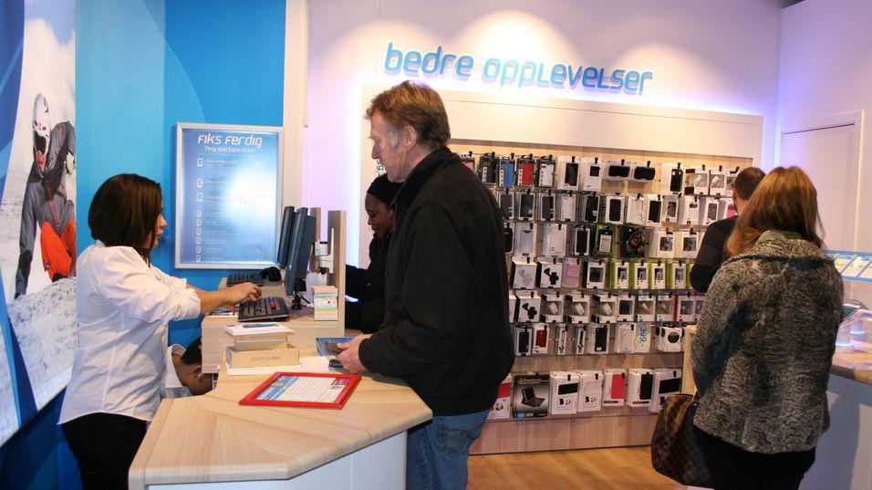 Telenor åpnet ny butikk på oslo City fredag.
