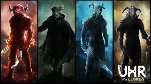 De forskjellige krigsherrene i UHR: Warlords. (Bilde: Turbotapegames.com).