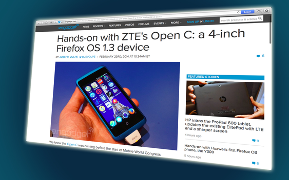Slik ser ZTE Open C ut.