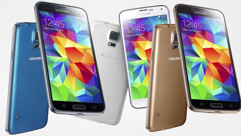 Samsung Galaxy S5 hoper seg opp på lagrene