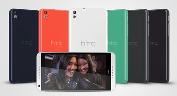 HTC med fargerike mellomklassemobiler
