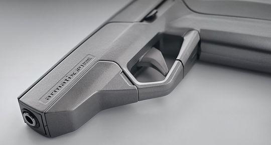 Et nærbilde av selve pistolen.