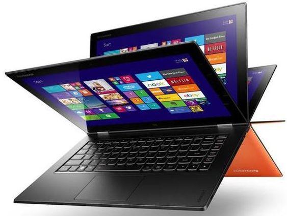 Lenovo Yoga 2 Pro er svært så fleksibel av seg og lar deg bøye skjermen bakover så du kan bruke den som et nettbrett.