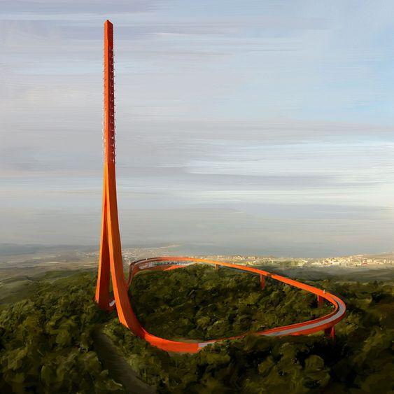 Dette tårnet vant konkurransen.