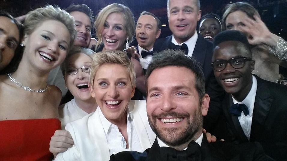 Her setter Ellen DeGeneres ny Twitter-rekord