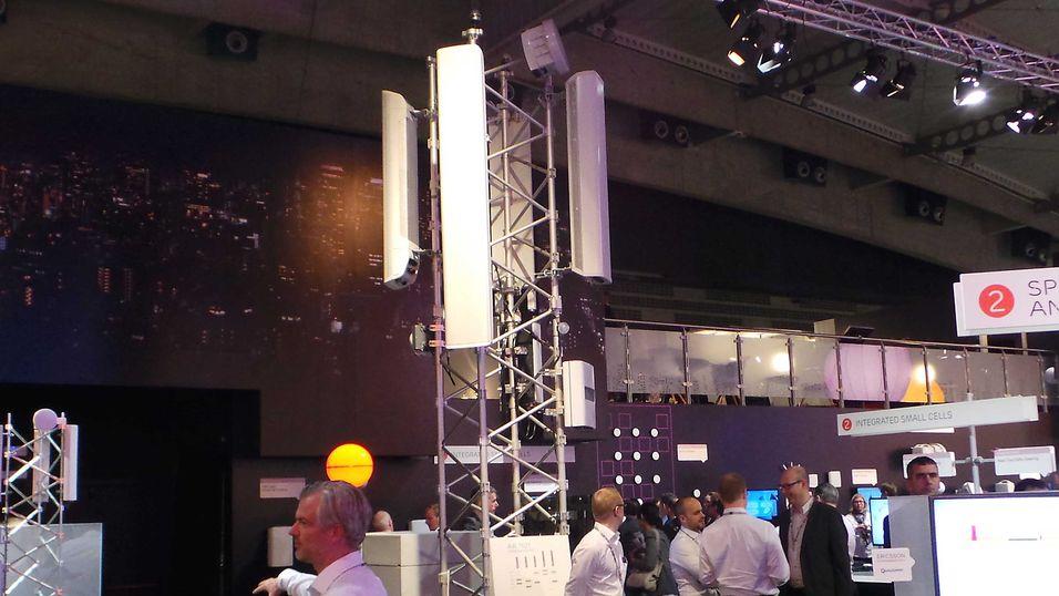 Ericsson har startet lanseringene fram mot Mobile World Congress i Barcelona. Her et bilde fra en av basestasjonene på Ericsson-standen foregående år i Barcelona.