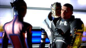 Vel, ok. Her ser det ut som om Shepard og Garrus er et tohodet monster.