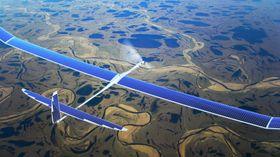 Illustrasjonsbilde av dronene som produseres av Titan Aerospace. Det er uvisst om det er akkurat denne type drone Google bruker i testingen.