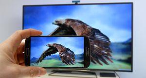 Få bildet fra mobilen til TV-en