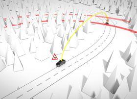 Når bilene kommuniserer kan de melde fra om farer som lurer bak neste sving til de som kommer motsatt vei.